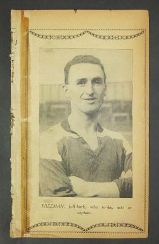 1924 Middlesbrough v Barnsley programme