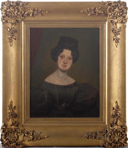 English School, 19th Century Portrait of Elizabeth Hartley, half length,