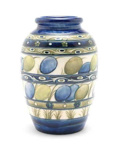 William Moorcroft 'Honesty' a Vase, circa 1929