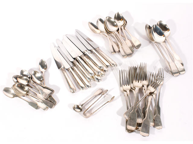 A quantity of silver flatware  various dates and makers,  (53)