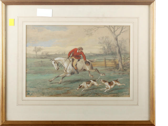 William Henry Wheelwright (British, 19th Century) Hunting scenes