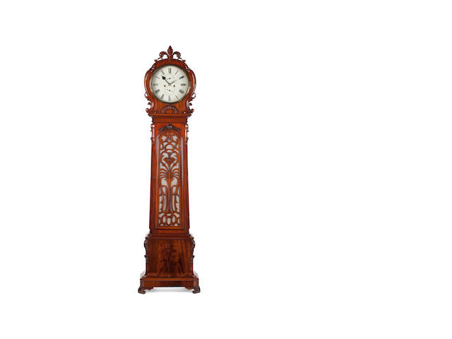 A 19th Century mahogany longcase clock Inscribed to the dial Alexander Hood, Dunfermline