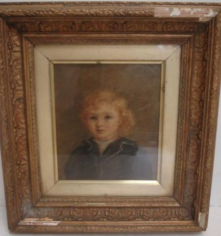 English School -  Arthur Williamson as a child, (1890-1971), 17.5 x 15cm.