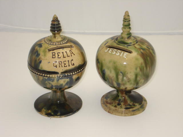 Two Scottish pottery money boxes Early/mid 19th century