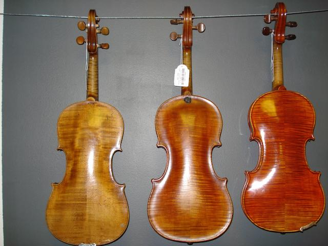 A Mirecourt Violin of the Caussin School, circa 1900 (3)