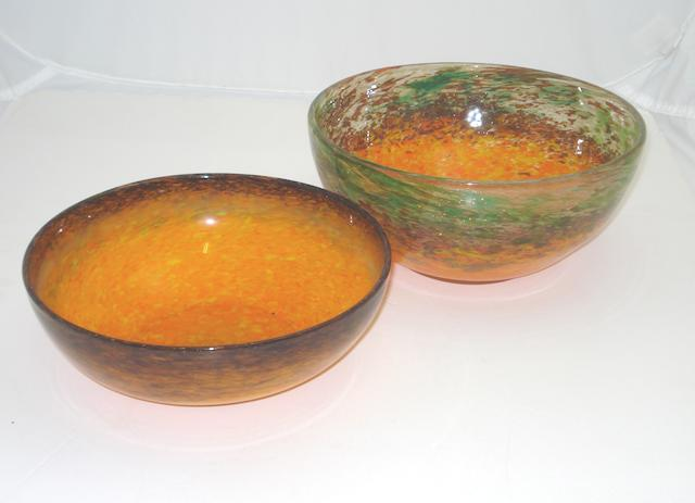 A Monart bowl Shape MA