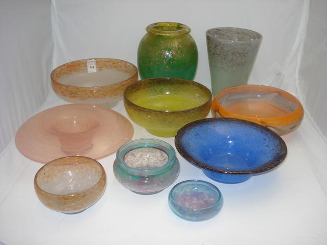 A collection of Scottish glass