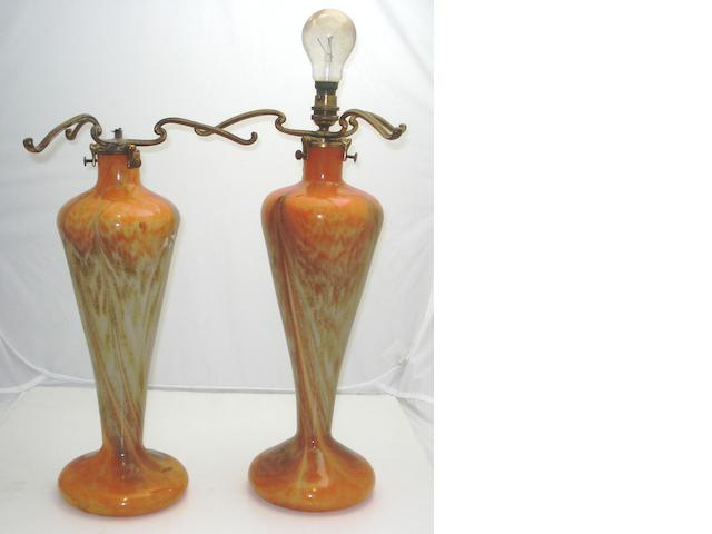 Two Monart lamp bases