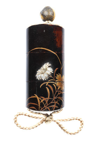 Two unusual lacquer inro 18th century