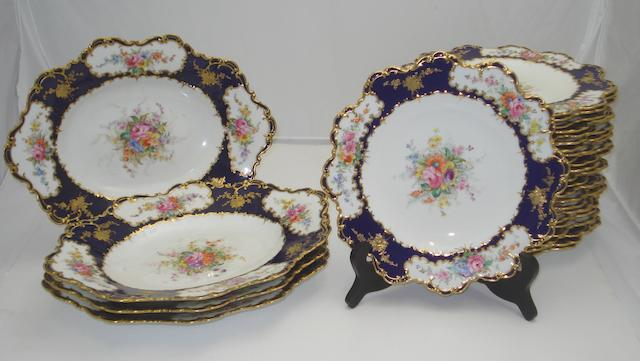 A Royal Crown Derby dessert service Circa 1898