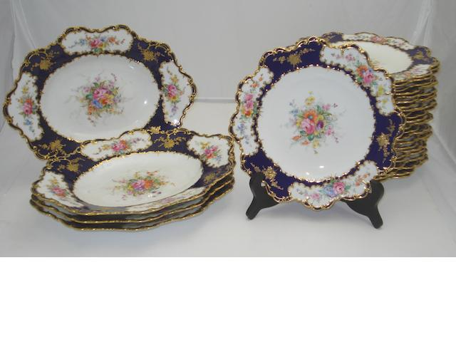A Royal Crown Derby dessert service