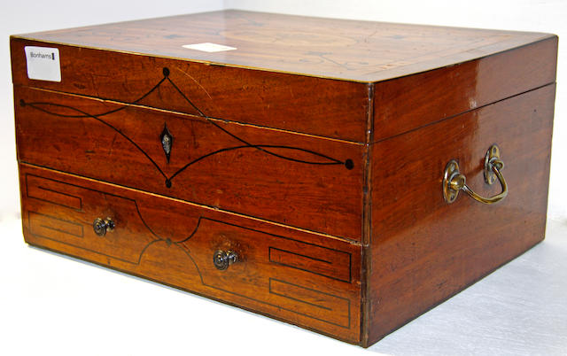 A late Victorian rosewood box