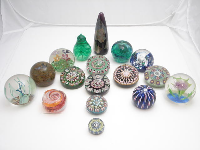 A collection of Scottish paperweights