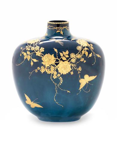 Doulton Titanium Vase with gilding
