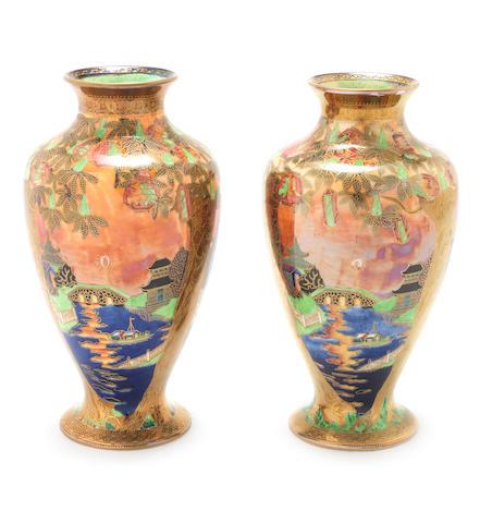 Daisy Makeig-Jones for Wedgwood 'Willow' a Flame Fairyland Lustre Vase, circa 1920