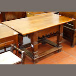 A 17th Century style French oak centre table,