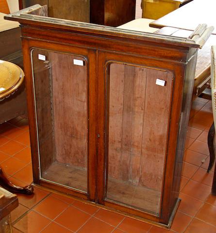 A Victorian mahogany glazed cabinet,