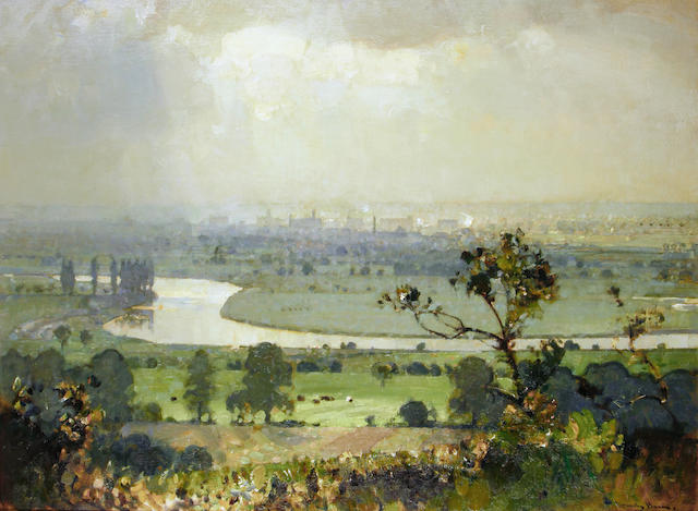 Sir John Alfred Arnesby Brown (British, 1866-1955) The Trent Valley