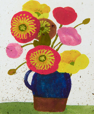 Mary Fedden R.A. (British, 1915-2012) Still life of flowers in a jug