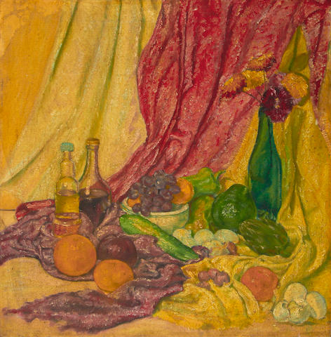 Alfred Aaron Wolmark (British, 1877-1961) Still life with fruit and vegetables