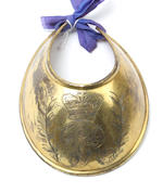 A Georgian officer's gilt brass gorget