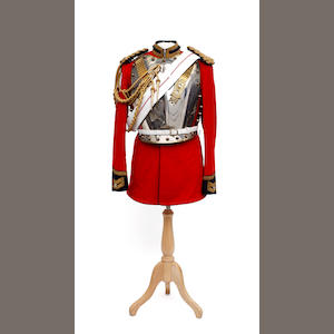 The Life Guards, a Trooper's Full Dress Tunic, Breast and Back Plates, Pouch Belt and Pouch