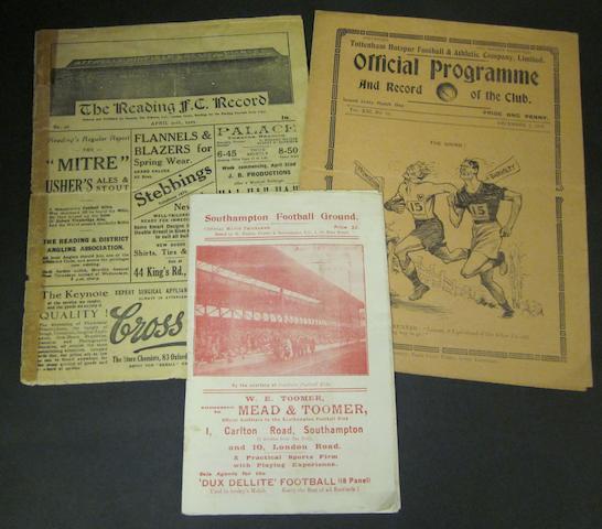 1928/29 and 1929/30 seasons Barnsley away programmes