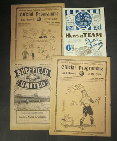 1930/31, 1931/32 Barnsley programmes