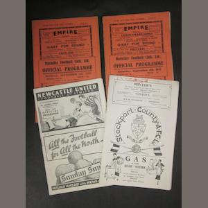 1937/38 Barnsley home and away programmes (Newcastle and Stockport)