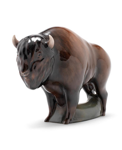 Doulton Burslem a Rare Prototype Medium Size Model of a Bison, circa 1960