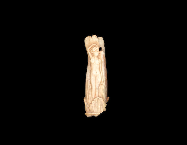 A Roman ivory handle carved with a representation of Aphrodite(11) ex A. Kalebidjian collection