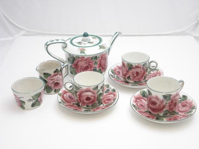 A Wemyss part tea set 'Cabbage Roses'