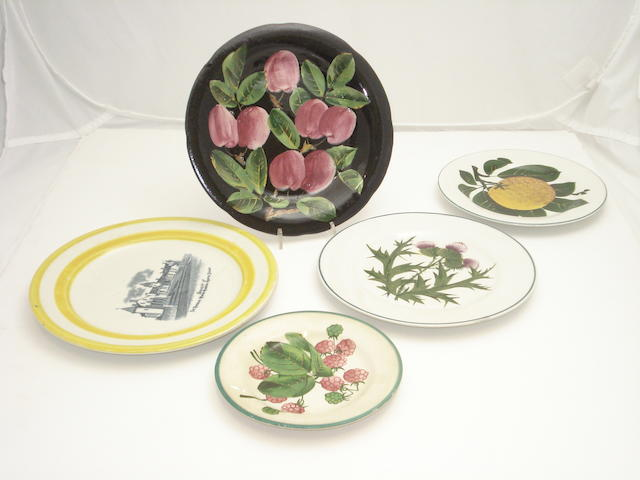 Five various Wemyss plates