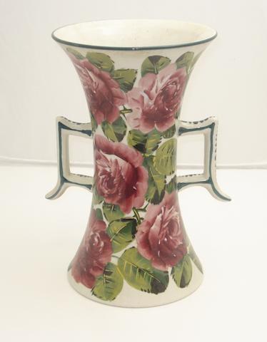 A Wemyss beaker vase 'Cabbage Roses'