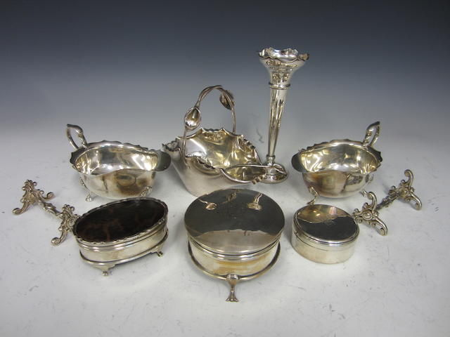 Two silver sauce boats Birmingham 1934/5  (10)