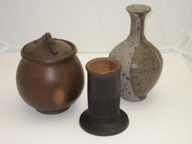 Three pieces of art pottery by Alexander Leckie