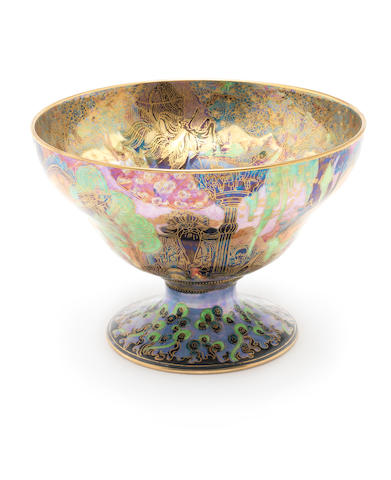 Daisy Makeig-Jones for Wedgwood 'Jumping Faun' a Fairyland Lustre Melba Centre Bowl, circa 1920