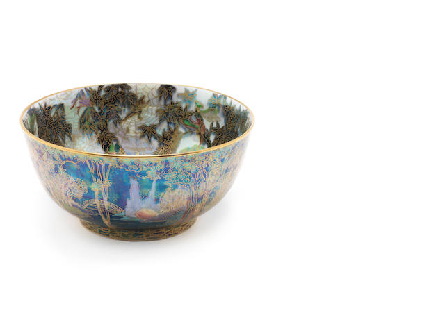 Daisy Makeig-Jones for Wedgwood 'Fairy with Large Hat' a Fairyland Lustre Imperial Bowl, circa 1920