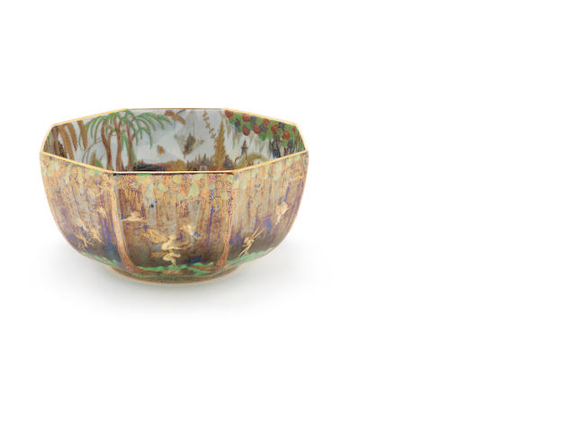Large Fairlyland lustre bowl