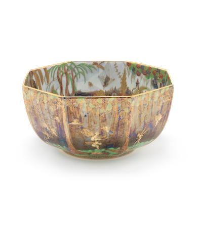Large Fairlyland lustre bowl