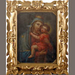 Continental School, 19th Century Madonna and child