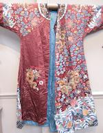 An embroidered dragon robe Mid 19th century