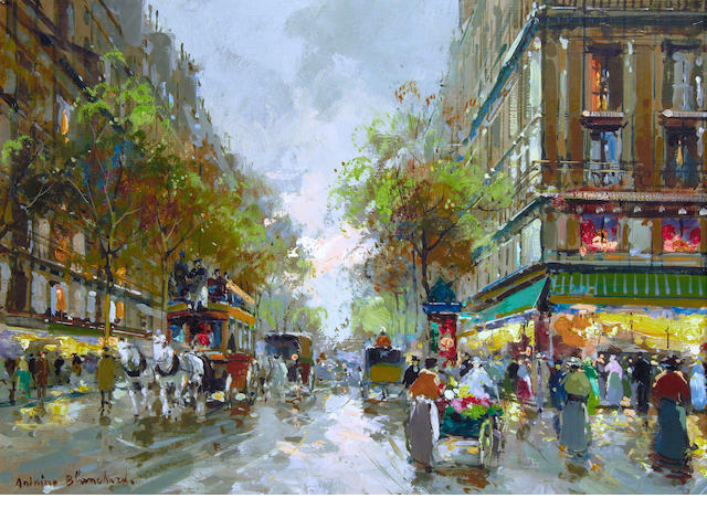 Antoine Blanchard (French, 1910-1988) Paris Street Scene, oil on canvas