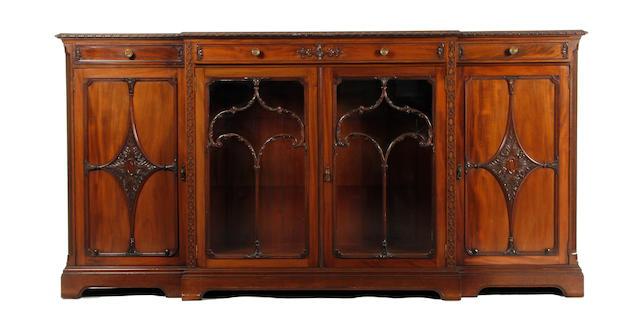 A Victorian mahogany breakfront sideboard