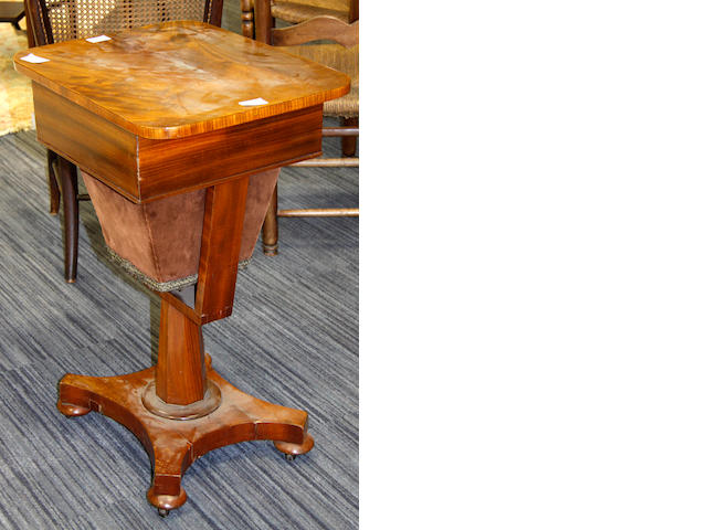 A Victorian mahogany work table