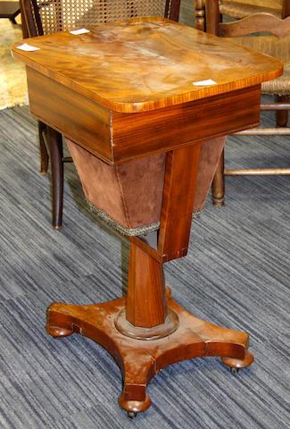 A Victorian mahogany work table