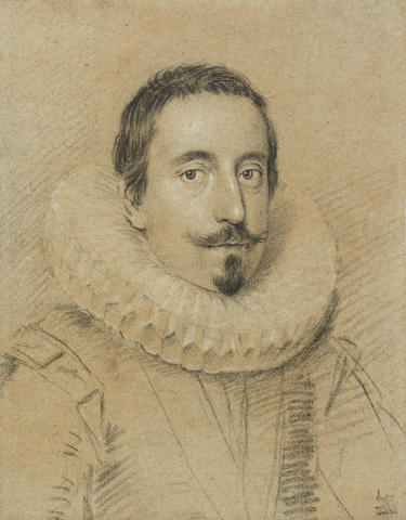 Ottavio Maria Leoni (Italian, 1578-1630) Portrait of a man, wearing a ruff