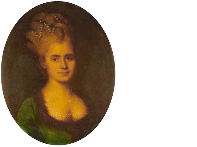 Venetian School, circa 1780 Portrait of a lady, bust length, in a green dress