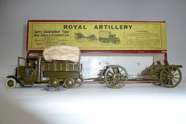 RARE Britains set 1462, R.A.Lorry, Limber and Gun 5