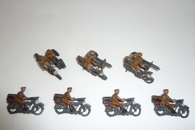 Britains set 199, Motor Cycle Machine Gun Corps 10